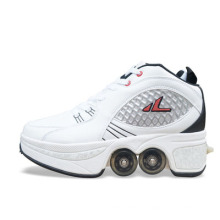 Hot sale high quality man outdoor Running sneakers Adults Unisex Roller Skates with 4 Wheels flat casual Shoes