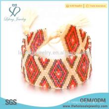 Bracelet de bijoux initiaux bon marché, bijoux en cristal de perles à graines diy