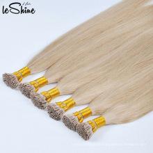 Extensiones del pelo de la queratina de la punta I / U / de la extremidad humana del mejor precio al por mayor 100 de la calidad más alta
