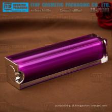 ZB-PK80 80ml boa qualidade cristalina materiais camadas dobro quadrado bela garrafa de plástico