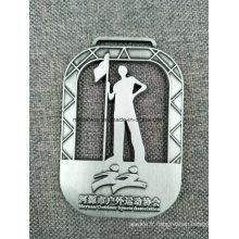 Médailles en alliage de zinc personnalisées avec ruban pour les prix de compétition