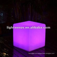 Discoteca de carga por inducción de 30cm, disco LED Cubo