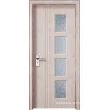 Современная деревянная конструкция ПВХ-дверь (WX-PW-135)