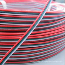 3pin PVC aisló el alambre 22awg estañado el cable de extensión de cobre 3 color rojo verde alambre eléctrico blanco