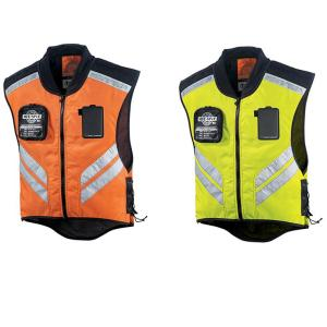 Fashionable design reflecting motorcycle vest with zipper
