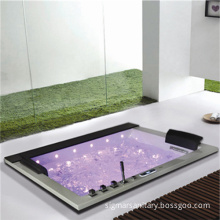 Most Popular Two Person Square Acrylic SPA Jacuzzi Bathtub