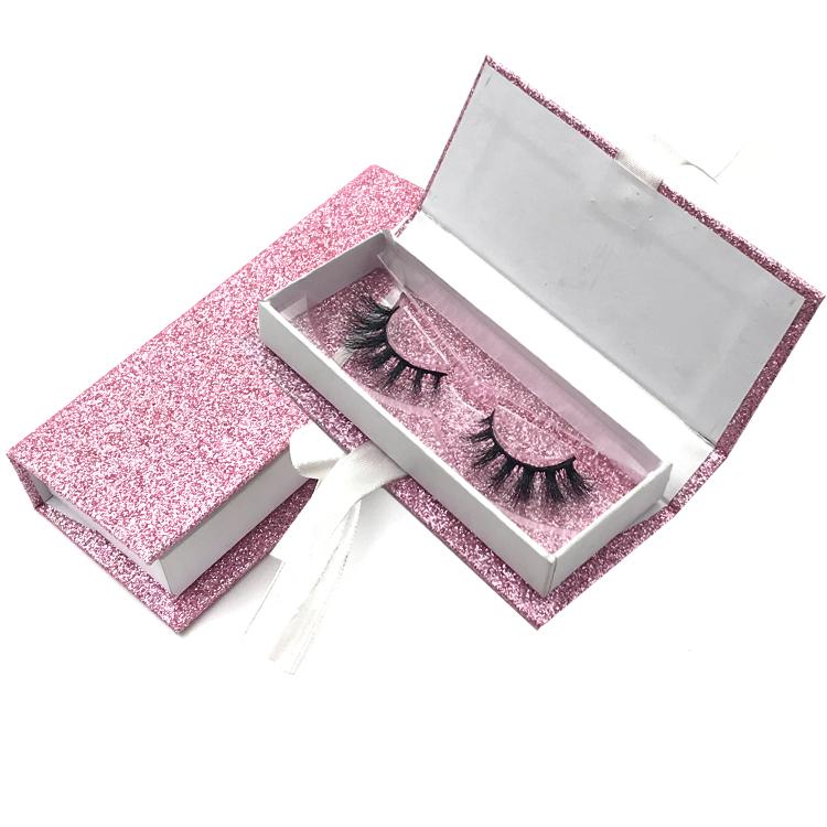 Glitter Private Label Eyelash Custom Box Packaging