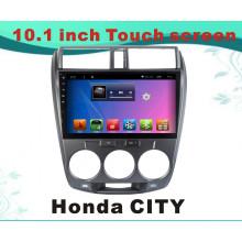 Автомобильный DVD-плеер с системой Android для Honda City 10,1-дюймовый емкостный экран с Bluetooth / WiFi / GPS