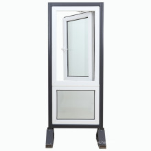 Plastic PVC UPVC Casement Double Glass Swing Window