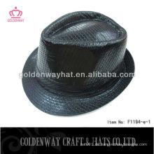 Schwarzer Mode Sequin Fedora Hut