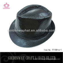 Chapeau Fedora Black Sequin De Mode