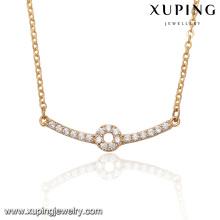 41966-Collier de barre en or 18k pour femmes avec accessoires de mode