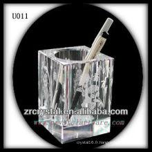 K9 Porte-plume en cristal carré