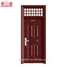 Los diseños populares de acero de la puerta de la habitación del oscilación del accesorio de la fuente de la fábrica en paquistán