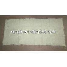 Plaque de lapin européenne 1,5cm cisaillée couleur blanc naturel 12skins ou 9skins