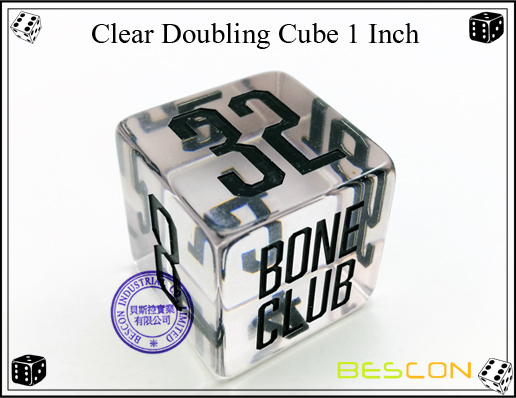 Clear Doubling Cube 1 Inch
