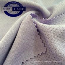 Tissu en nid d'abeille Tissu en 100 microfibres de polyester pour vêtements de sport