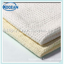 polyester polyamide fabric overlocking microfiber waffle cleaning cloth for Household Cleaning