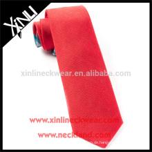 100% handgemachte perfekte Knoten Mens Großhandel Solid Red Krawatten