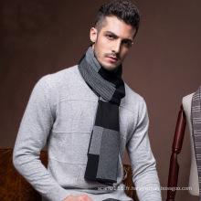 Laine de mode pour hommes tricoté hiver longue écharpe chaude (YKY4621)