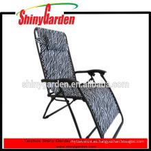 Estilo Zebra reclinable plegable Zero Gravity con bolsa de revista