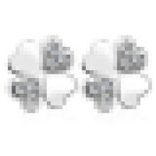 Boucles d'oreilles trèfle simple et belle en forme de coeur pour femme