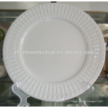 ceramic porcelain white wavy dinner plates