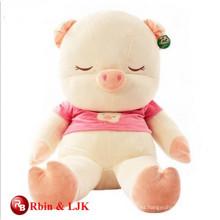 Cumplir EN71 y ASTM estándar peluche juguete de cerdo grande
