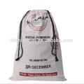 China Fábrica Personalizado Impresso Linho Baratos Cordão Sacos De Presente De Natal