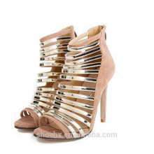 Sexy shoes with fish mouth silver shoes high heel sandals