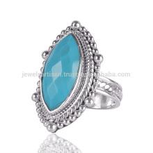 Natürliche Arizona Türkis Edelstein 925 Sterling Silber Ring Schmuck
