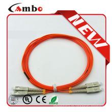 PVC, LSZH, OM3, LC, SC, Plenum del FC Cable de remiendo de la fibra óptica