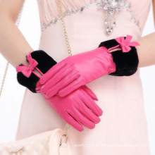 Lady Fashion Faux Pelz Manschette Schaffell Leder Kleid Handschuhe (YKY5209-1)