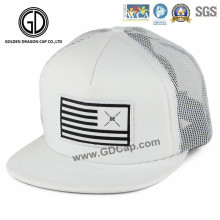 Sombrero ajustable del camionero del Snapback de Hip Hop de la calidad con el remiendo tejido