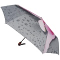 Traveling Umbrella Auto Flower Design 3 Folding Umbrella