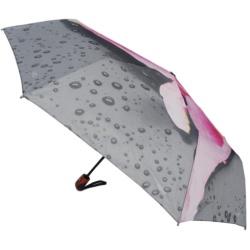 Traveling Umbrella Auto Flower Design 3 Folding Umbrella