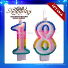 Bougies au numéro d'anniversaire de vente chaude