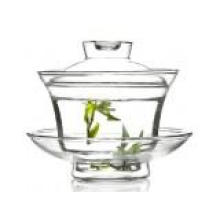 150ml Heat Resistant Borosilicate Glass Teapot with Infuser and with Plate