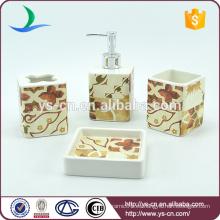 Cuarto de baño de cerámica de cerámica cuadrados jabón bandejas