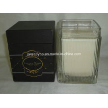 Scented Soy Wax Square Glass Jar Candle