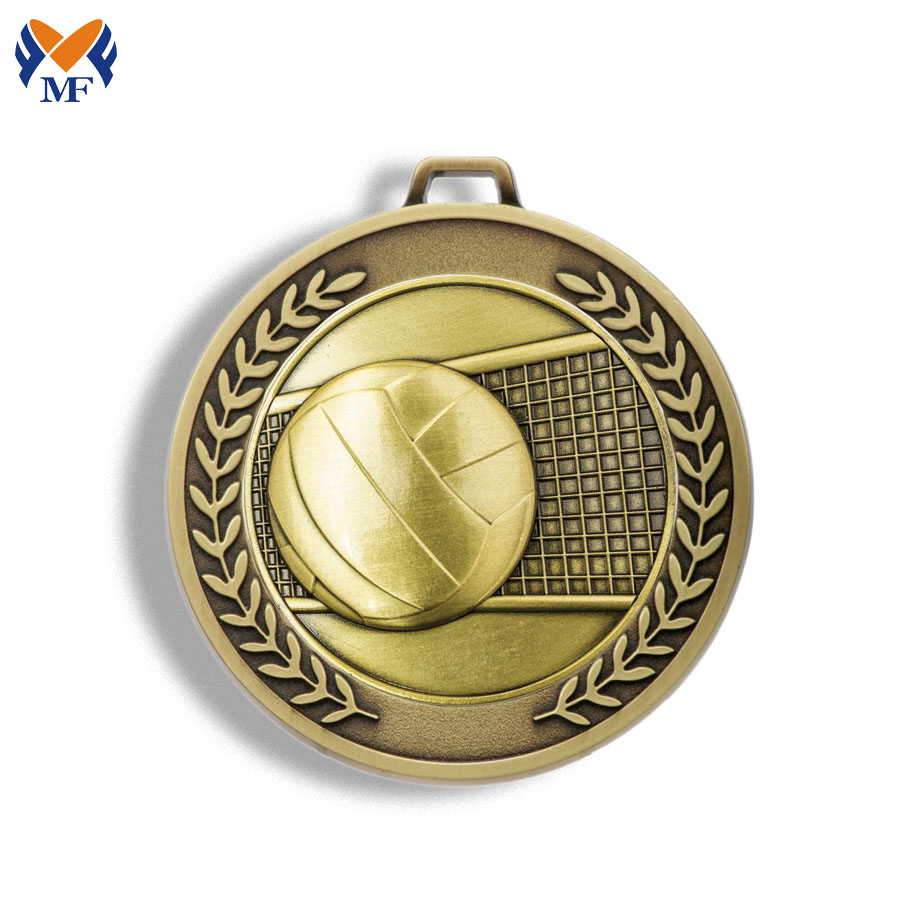 Volleyball Medals Metal