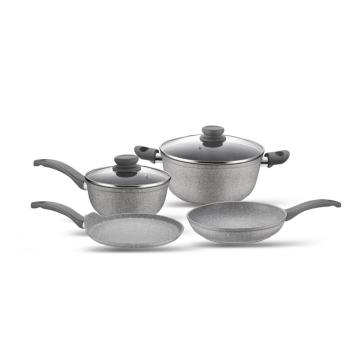 Non-stick Aluminum Marble Coating Cookware Set