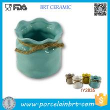 Hot Pot mit Seil Kleinigkeiten Aufbewahrungsbox Keramikbox