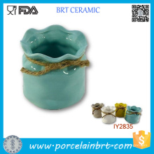 Hot Pot with Rope Sundries Storage Box Ceramic Box