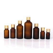 screw top luxury 5ml 10ml 15ml 20ml 30ml 50ml 100ml essential oil bottle amber forsted