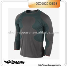 Wholesale ligh weight men compression long sleeve running shirt 2013