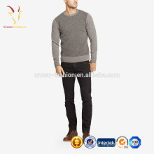 Crew neck cashmere sweater pullover for men wholesale