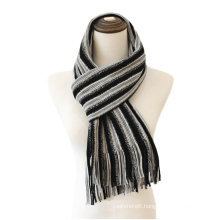 Mens Womens Unisex Knitted Stripe Autumn Winter Warm Scarf (SK806)