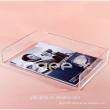 Custom-made Clear Acrylic Book Display Tray For School and Office