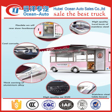 Commercial Street 4 wheels Electric Mobile Shop Van with Ice cream For Sale